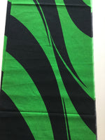 Custom Lamp Shade only - Vintage Kimono Panel -Green & Black