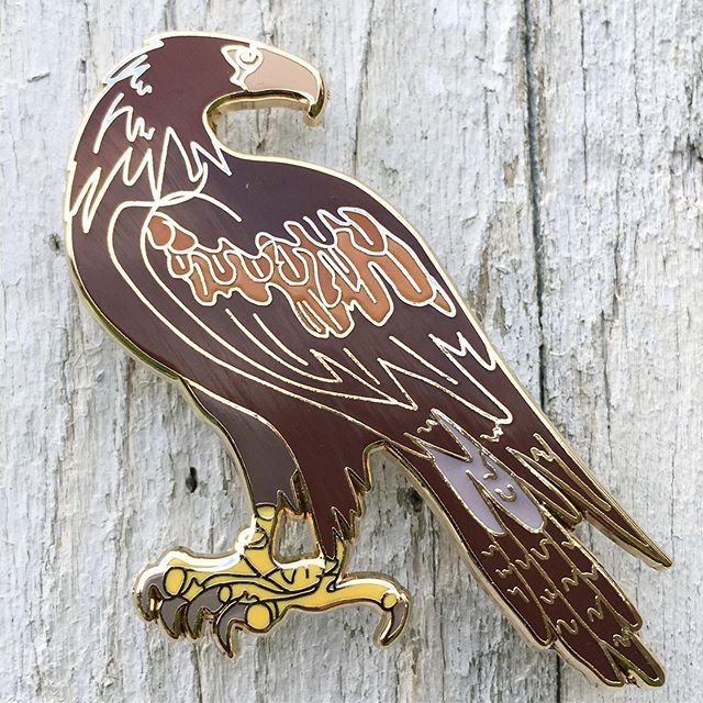 Enamel Lapel Pin - Wedged-Tailed Eagle