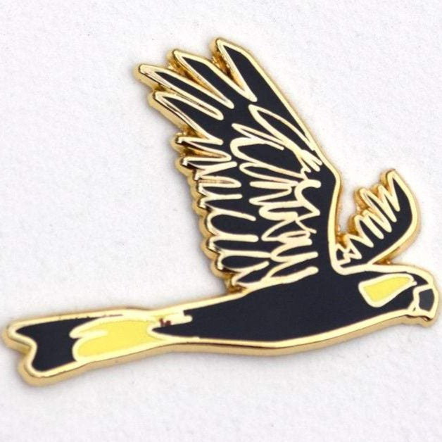 Enamel Lapel Pin - Black Cockatoo