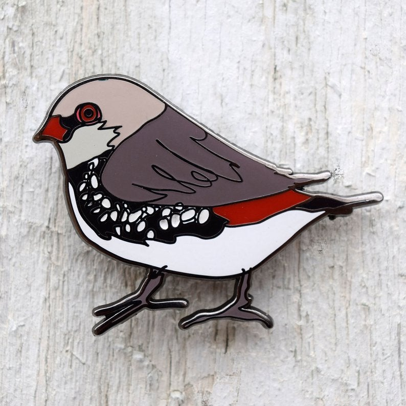 Enamel Lapel Pin - Diamond Firetail