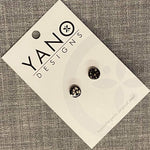 Mini Dot Laser Cut Timber Stud Earrings