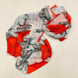 Original Art Print Polyester Scarf - An Escheresque Dream