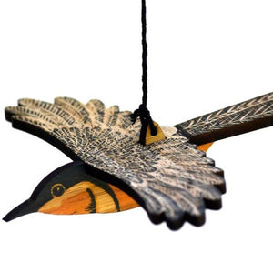 Hand Printed Wooden Bird Mobile - Eastern Spinebill