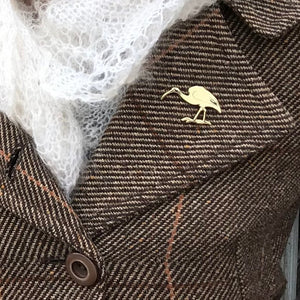 Enamel Lapel Pin - White Ibis