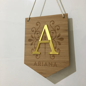 Personalised Bamboo Hanging Name Plaque