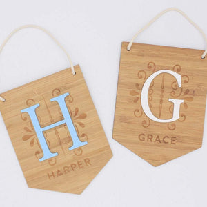 Personalised Bamboo Hanging Name Plaque *AVAILABLE TO ORDER ONLY*