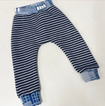 Fleece Trackie Jogger Pants - Navy Stripe