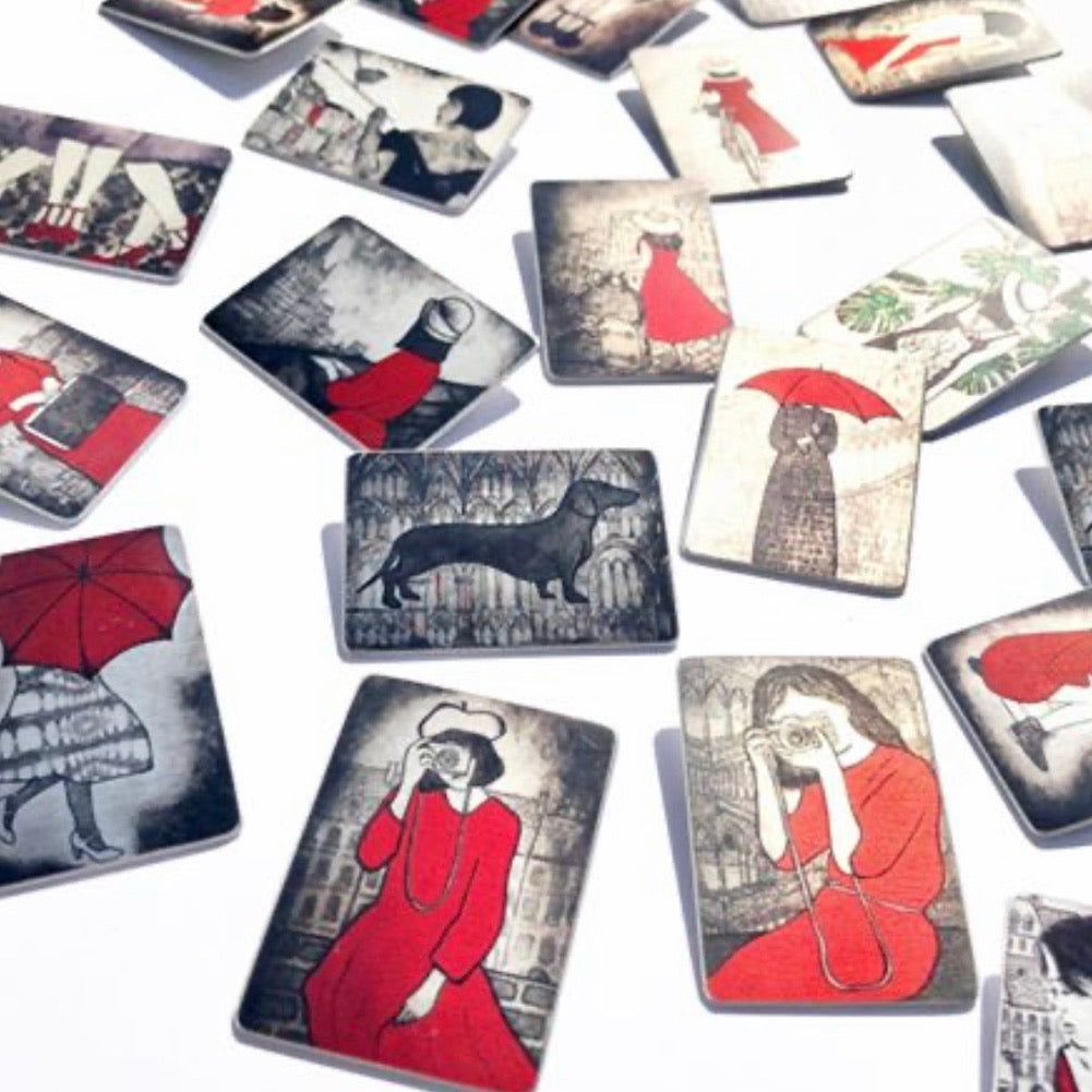 Aluminium Original Art Brooches