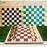 Handcrafted Chess Board with wood chess set