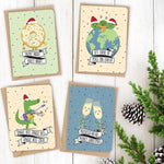 Quirky Novelty Christmas Cards with Envelopes