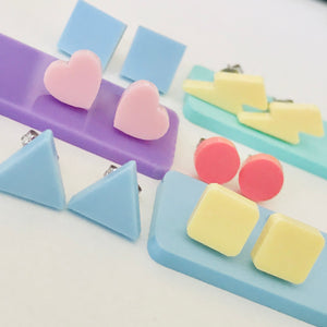 Pastel Shaped Laser Cut Acrylic Stud earrings