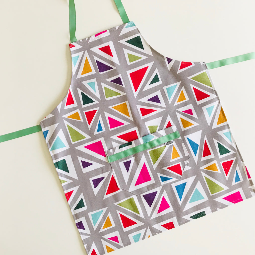 Apron (tween/small adult) -   Rainbow Triangles