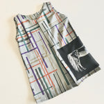 Girls Shift Box Pleat Dress - Grey Grid with Horse Patch *ON SALE*