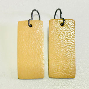 Mini Rectangle Leather Earrings *ON SALE*