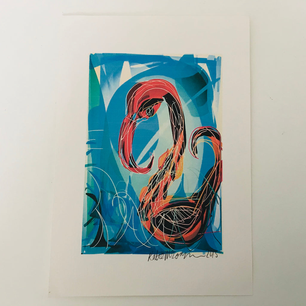 Unframed Giclée A5 Art Print - Bird At Sea