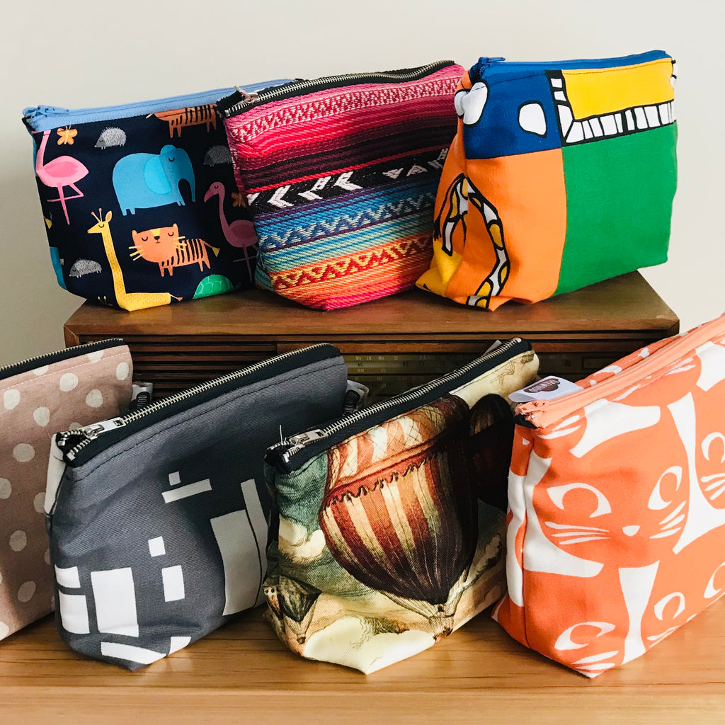 Zip Pouch Cosmetic Bag