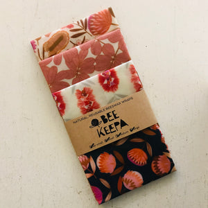 Beeswax Food Wraps - 4 Pack