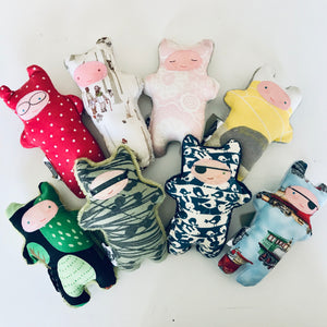 Handmade OOAK Mini Monster Softies