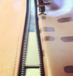 Hold All Leather Wallet - Centre Seam Block Colour