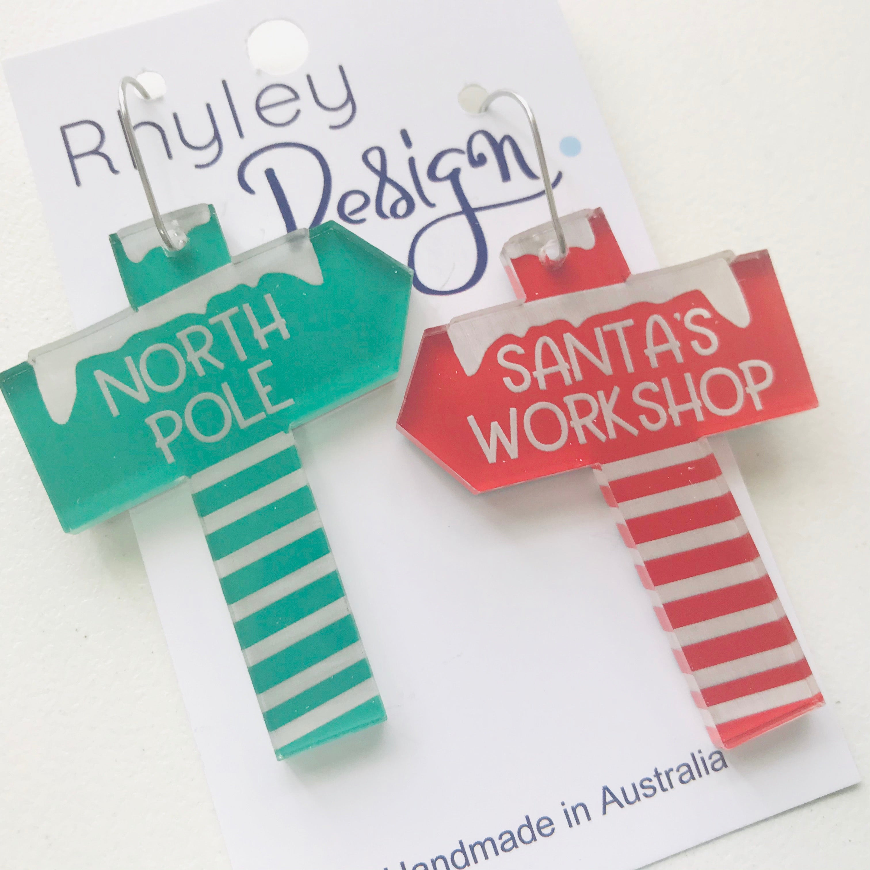 Santa Signs Statement Earrings (XMASP)