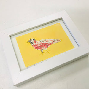 Framed Giclee A5 Art Print - Red Polka Dot Bird