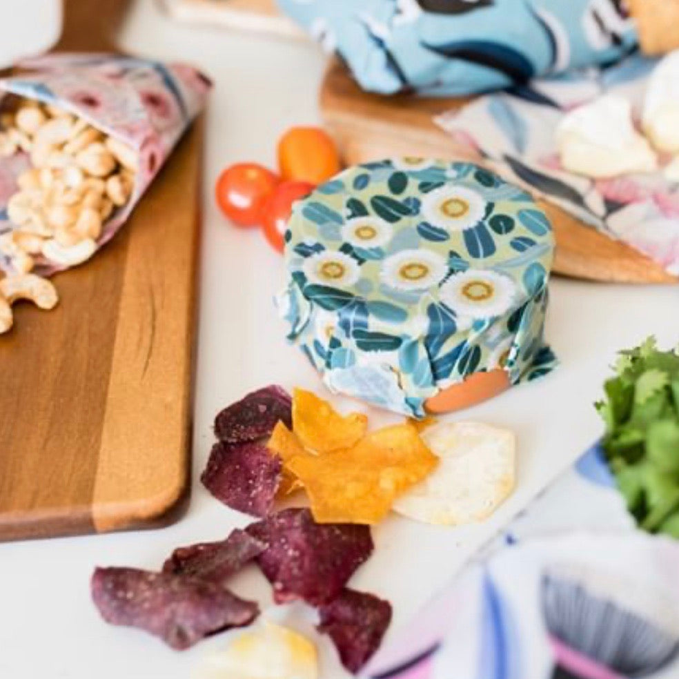 Beeswax Food Wraps - 3 Pack (Starter pack)