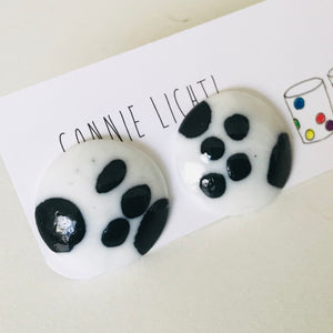 Hand painted Ceramic Stud Earrings - LARGE 25mm