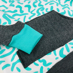 Kids Sweater - Mint Squiggle