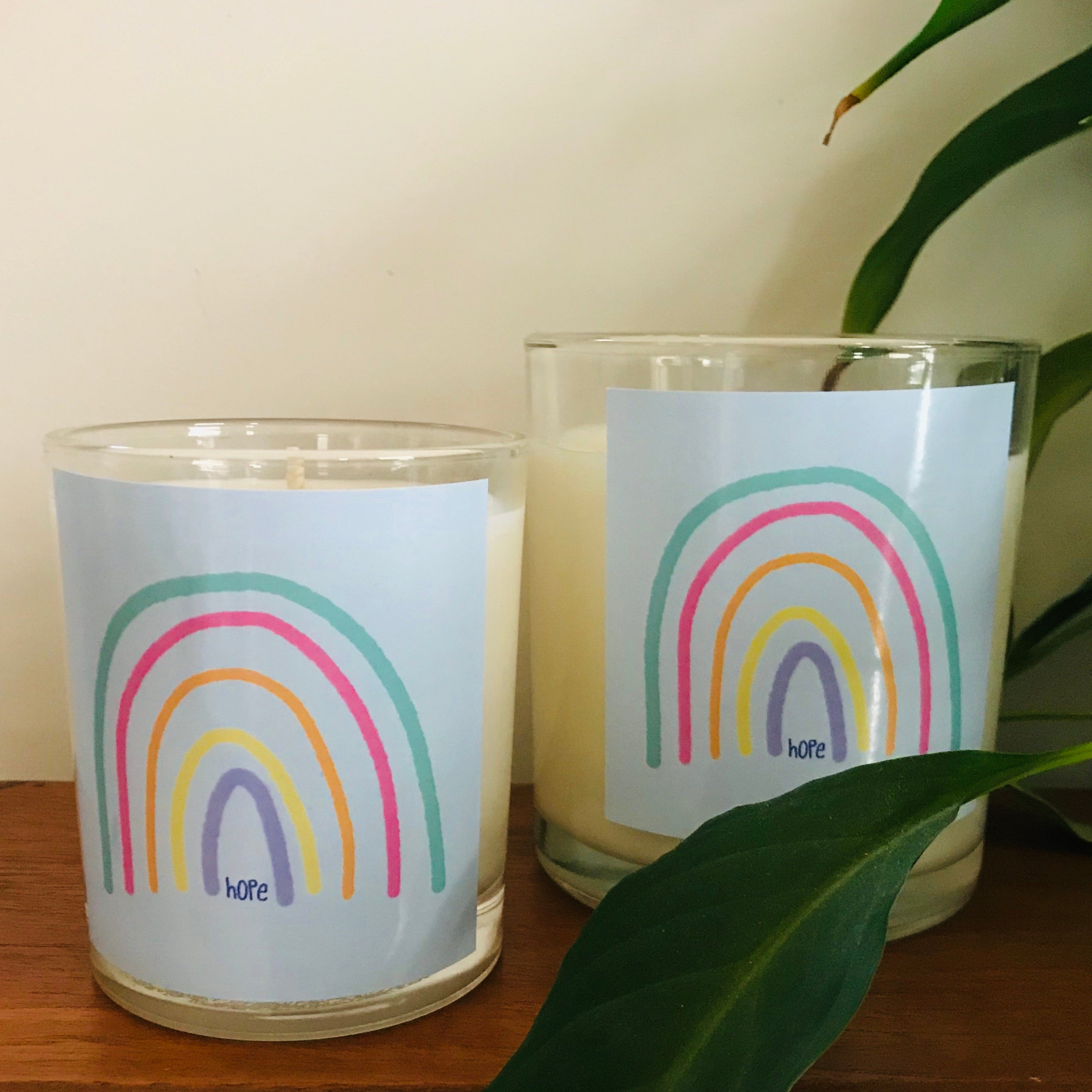 RAINBOW HOPE - Musk Sticks - Hand Poured Glass Candle Collection (two sizes)