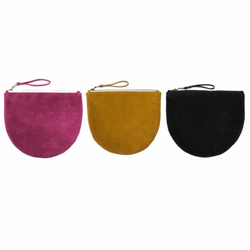 Leather / Suede Arch Clutch Bag *ON SALE*