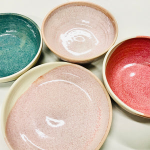 Handthrown Pottery Round Small Bowls & Trinket Dishes