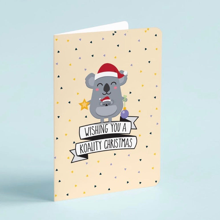 Novelty Christmas Card Pack of 8 with Envelopes - Funny