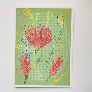 Mixed Media Recycled A6 Art Print Greeting Cards with Envelopes