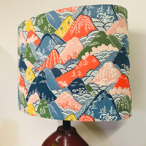Custom Lamp Shade only - Japanese Mountains