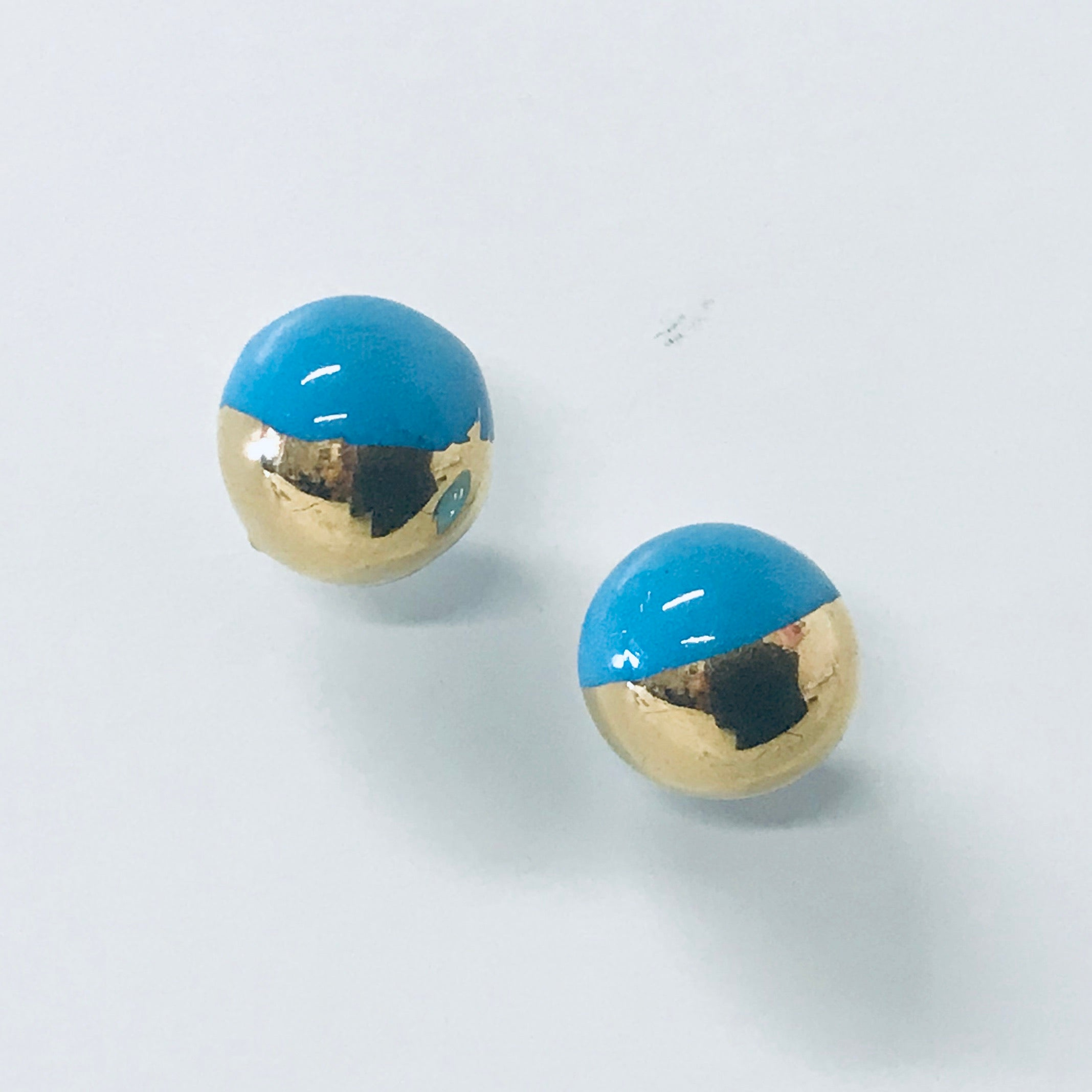 Hand painted Ceramic Stud Earrings - small