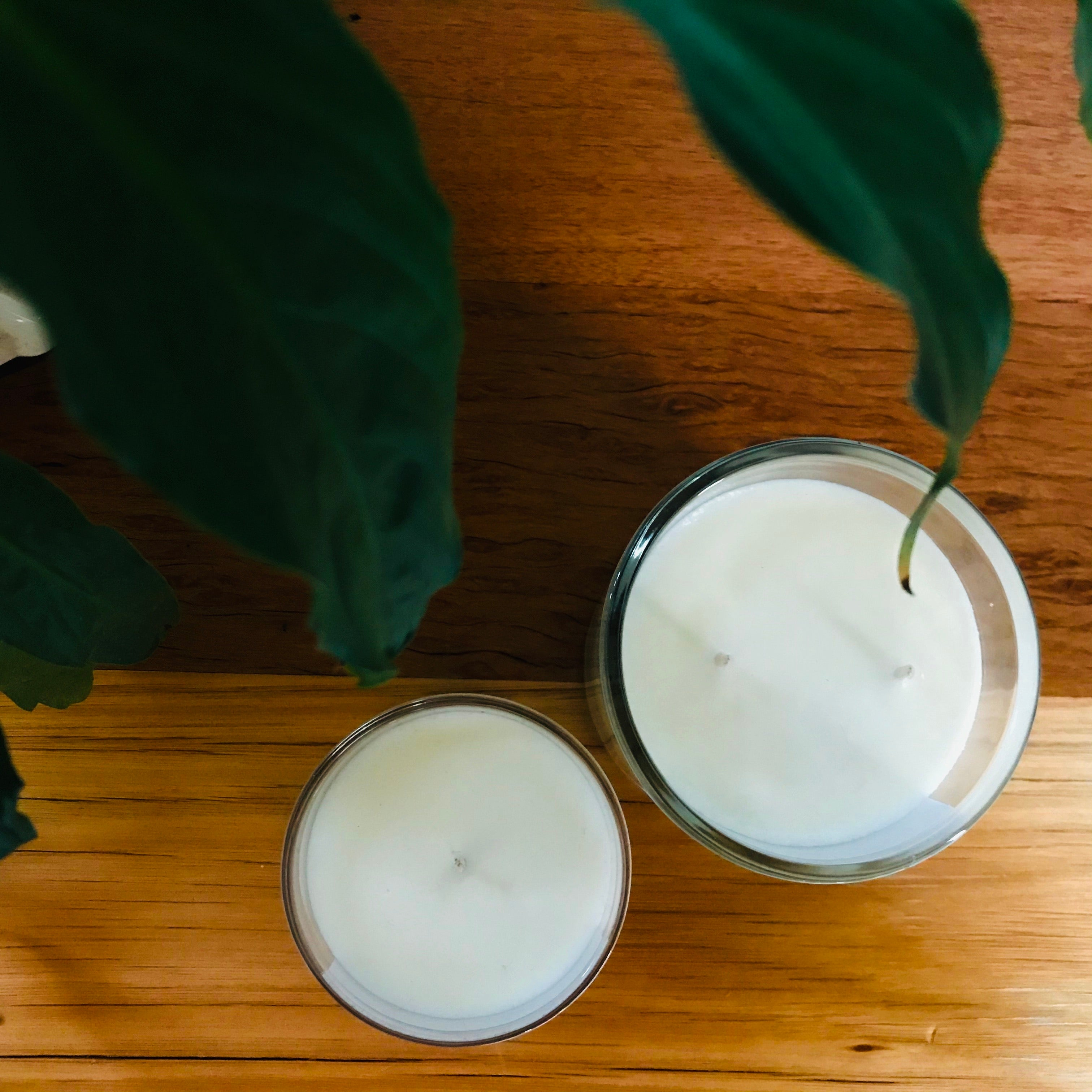 Hand Poured Glass Candle Collection (two sizes)