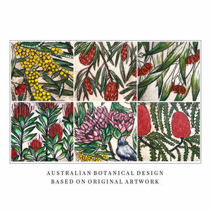 Original Art Print Coaster Ser of 6 - Australian Botanical