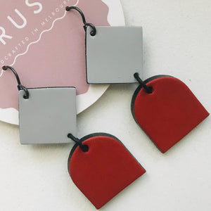 Alice Leather Earrings *ON SALE*