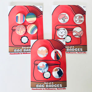 Set of 4 Bag Badges