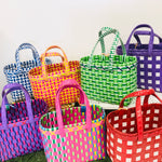 Handwoven Pallet Strap Market Baskets - X Mini