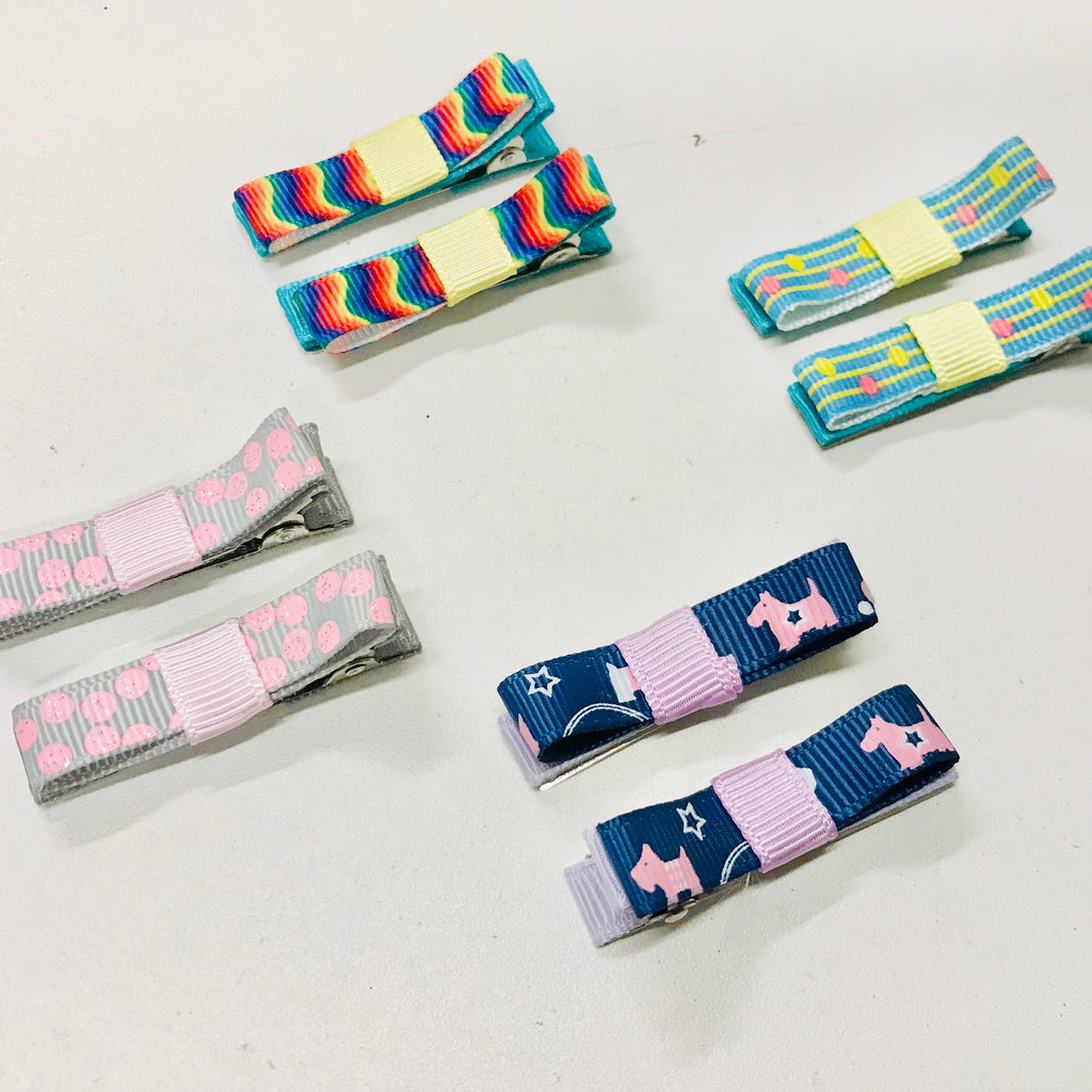 Handmade Ribbon Bow Hairclips