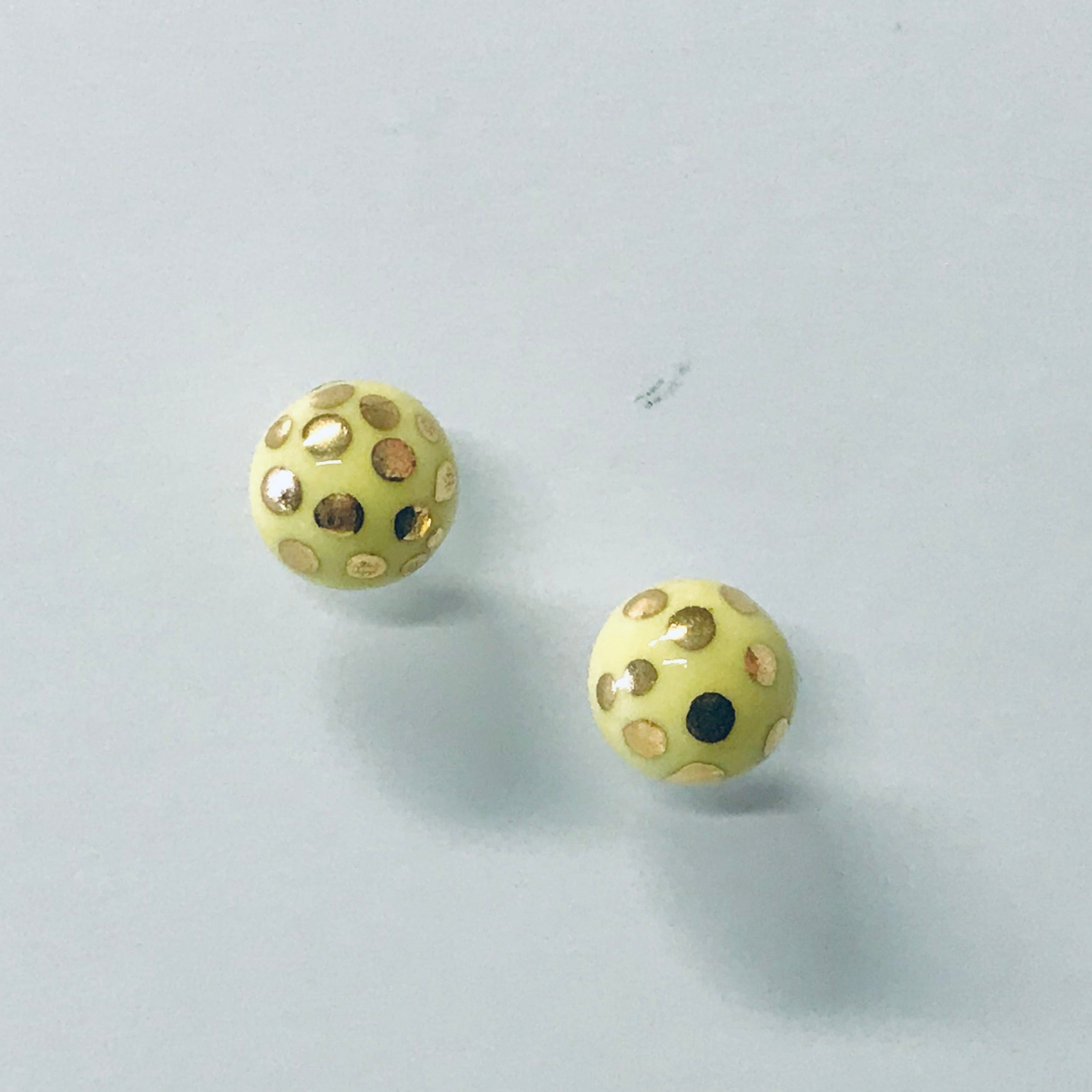 Hand painted Ceramic Stud Earrings - extra small