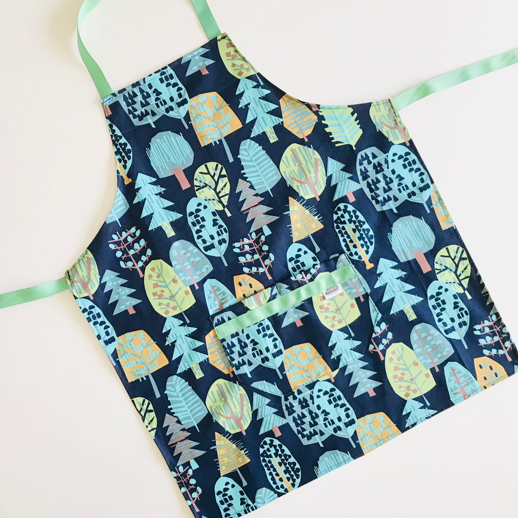 Apron (tween/small adult) -   Blue Trees