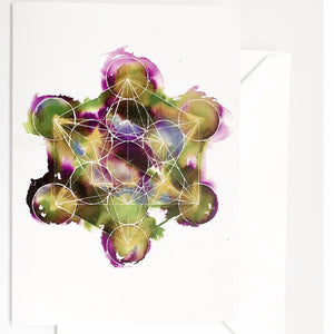 Sacred Geometry Original Art Alcohol Ink Greeting Cards