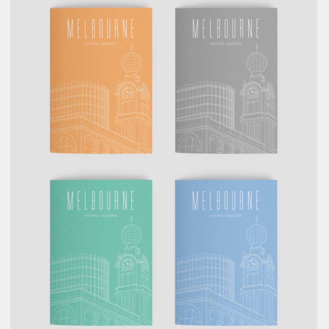 Melbourne Landmark Art Print Greeting Cards