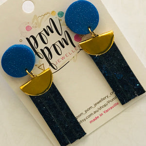 Polymer Clay & Glo-Mesh Handmade Earrings