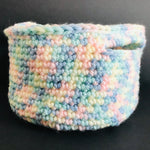 Crochet Storage Basket Pot - pastels