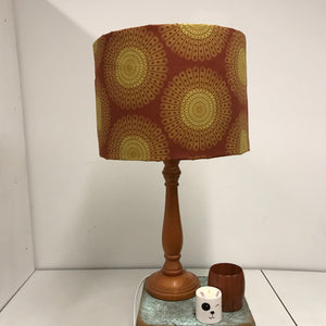 Custom Lamp Shade only - Sphere Bursts in rust
