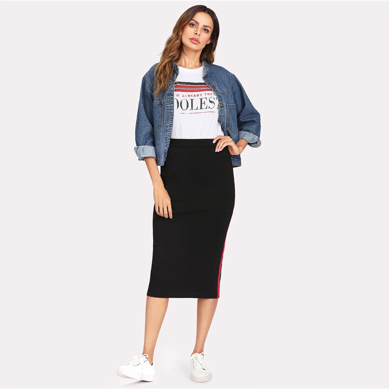 Mid Waist Casual Skirt for Women - athleisurebest.com