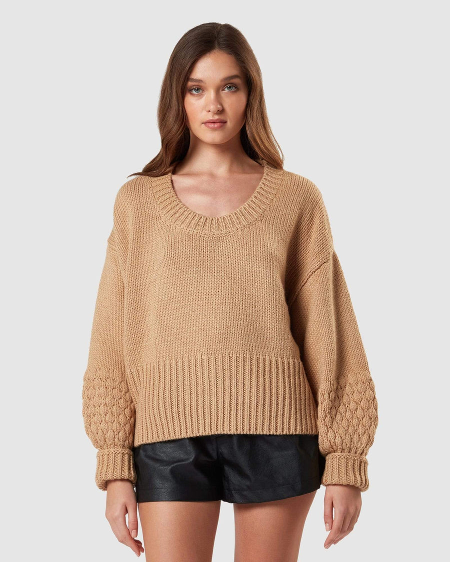 Charlie Holiday FLEECE & KNITS Fawn Knit